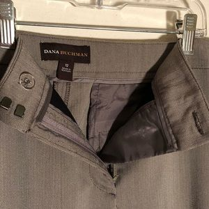 Dana Buchman Pants - Gray herringbone career trousers slimming 12 EUC